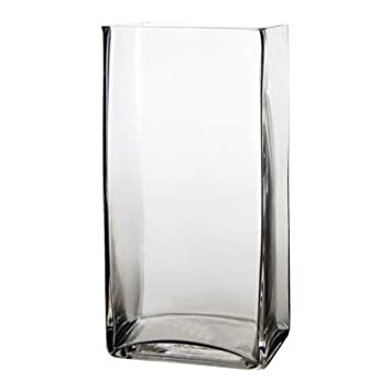 Amazon 10 Rectangle Glass Vase 10 Inch High Clear Square
