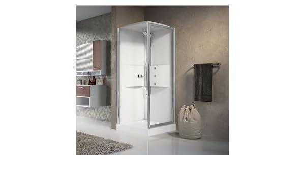 Mampara de ducha cuadrada de cabina de ducha multifunción acceso de Face giratoria media 2.0 Novellini 80 x 80: Amazon.es: Bricolaje y herramientas