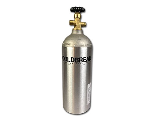 - Coldbreak CO2 Tank, New, Aluminum, 5 lb. Capacity, Current Hydrostatic Testing Stamp