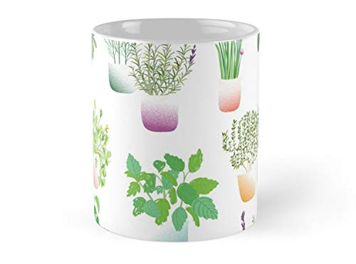 Herb Garden Pattern 11oz Mug - Made from Ceramic - Great gift for family and friends