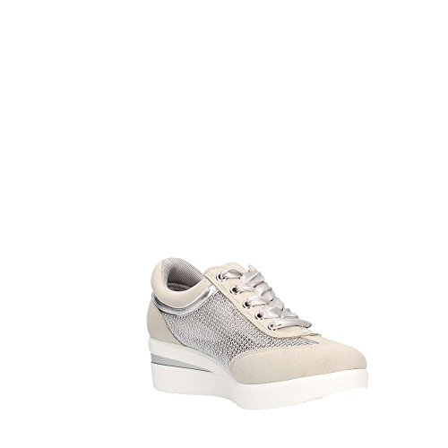 Bianco Donna Beige Argento Gattinoni PENDE0731WTM908 Sneakers qXxxZg