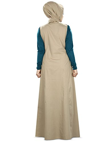 MyBatua Mit Jersey Abaya Trendy Frauen Sleeves Cotton 6wqOH4R76