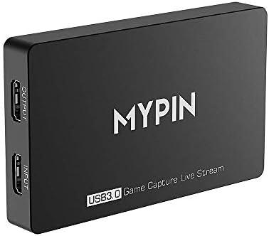 MYPIN 4k @60FPS HD HDR USB 3.0 Captura de Juegos Grabación en ...