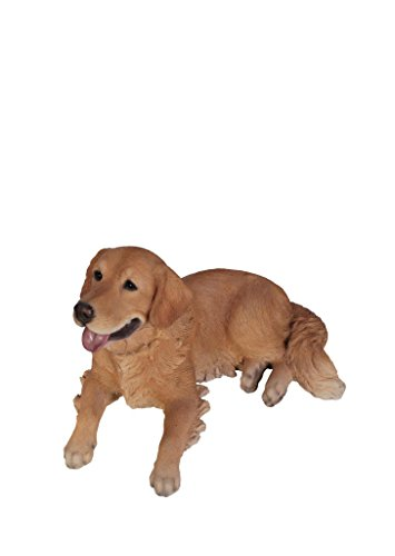 Golden Statue - Hi-Line Gift Ltd Golden Retriever Laying Dog Statue
