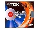 TDK DVD-RAM Media 4.7GB Type2 for Pc (1-Pack)