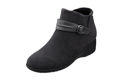 Pansy(パンジー) 4641 パンジー ブーツ 生活防水 ショートブーツ 3E レディース スエード調素材 ベルトがお洒落 歩きやすいシューズ
