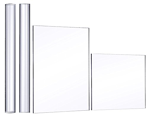 Honbay 2pcs Solid and Hollow Acrylic Clay Rollers with Square and Rectangle Acrylic Sheet Backing Boards for Shaping and Sculpting