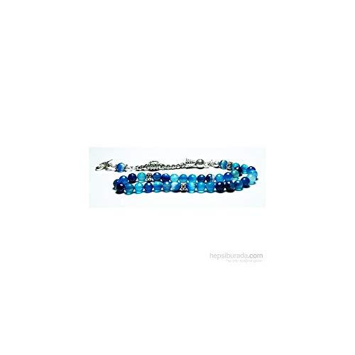 - LaModaHome 6 mm Facet Cut Blue Multicolored Rosary Agate