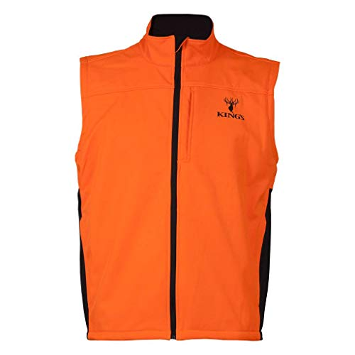 King's Camo Soft Shell Vest, Blaze Orange, X-Large ()