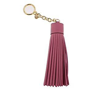Michael Kors Leather Tassel Charm Key Fob