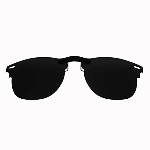Custom Polarized Clip On Sunglasses for Ray-Ban Clubmaster RB3016 (RX3016) 51X21(No Frame) - Clubmaster Custom Sunglasses