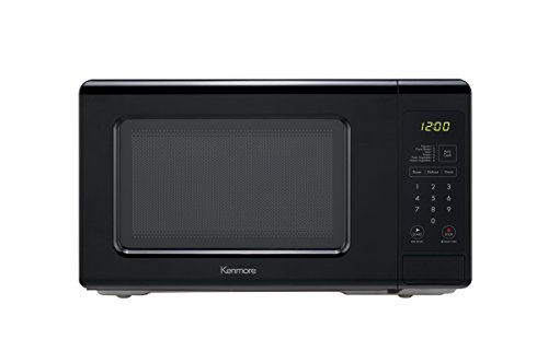 Kenmore Small Countertop Microwave, 0.7 cu. ft, Black (Glass Semi Micro)