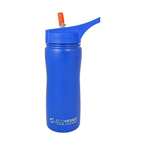EcoVessel SUMMIT TriMax Triple Insulated Stainless Steel Water Bottle with Flip Straw