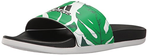 Adidas De Schoenen Van Vrouwen | Adilette Cf + Gr Atletische Dia Sandalen, Wit / Zwart / Groen, (8 M Ons)