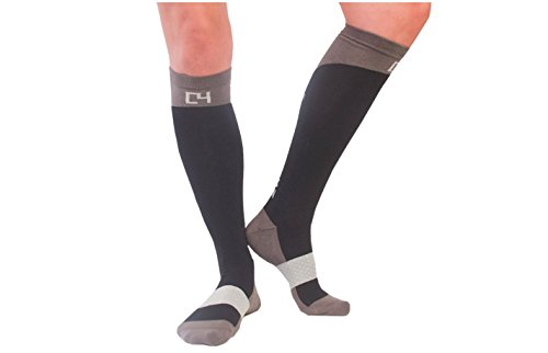 C4 Equestrian Horse Riding & Tall Boot Over the Calf Knee High Socks for Women (Black)