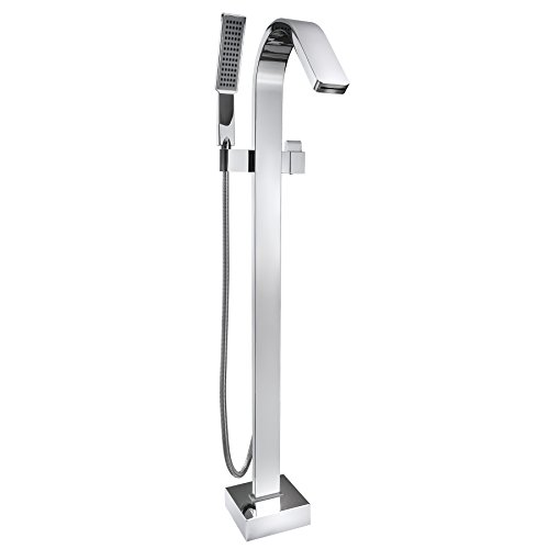 AKDY Chrome Freestanding Handheld Bathtub