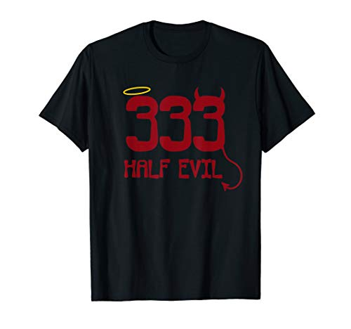 333 Half Evil Golden Halo Unisex Standard T Shirt