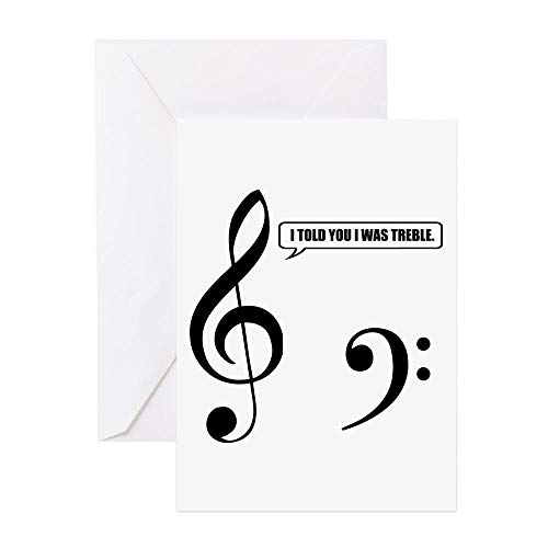 CafePress Treble Clef Greeting Card, Note Card, Birthday Card, Blank Inside Matte for $<!--$3.99-->