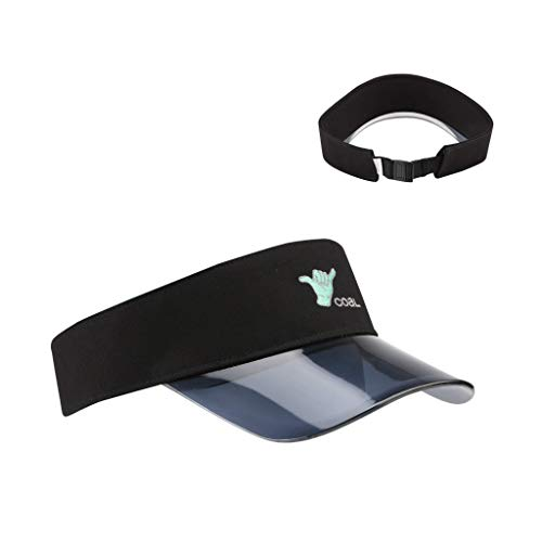 Coal Men's The Sandy Visor Adjustable, One Size Black ()