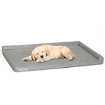 PetFusion PuppyTough Dog Crate Pad [NEW] with Waterproof foam liner & removable washable cover. Puncture & scratch resistant. Replacement covers & blankets also avail