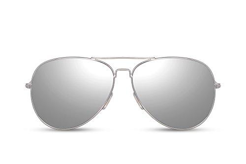 Plateado Gafas de Espejadas Piloto UV Hombres 400 Metálicas Cheapass Mujeres Sol Gafas Aviador 017 Diseñador Ca n4WqwfZxw
