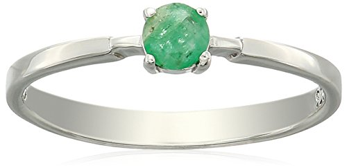 Emerald Solitaire Ring - 8