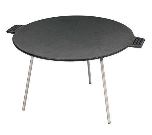 Cast Iron Griddle / Skillet Table for camping & outdoor cooking adventures with friends and family