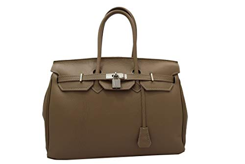 hand bag leather Taupe
