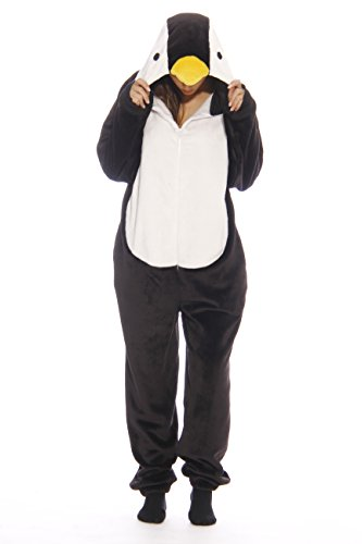 6262-M Just Love Adult Onesie / Onesies / Pajamas,Black Penguin -