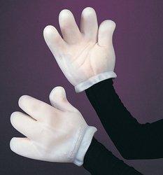 Cartoon Gloves Hands - Vinyl Cartoon Gloves White Adult Costume Accessory