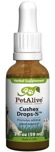 6 Bottles of PetAlive Cushex Drops Proven Herbal Remedy for Cushing's Disease to help Lower Adrenocorticotropic Hormone (ACTH) Levels in Dogs. $350 Value