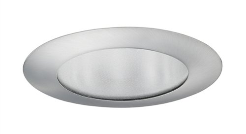 Juno Lighting Group 210N-SC Flat Glass Shower 5-Inch Recessed Trim and Diffused Glass Lens, Satin Chrome Finish -