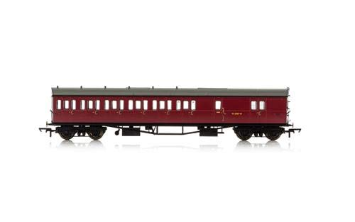 Hornby R4880 BR Collett 57' Bow Ended D98 Six Compartment Brake Third (Left Hand) W5507W-Era 4 Coach, Multi