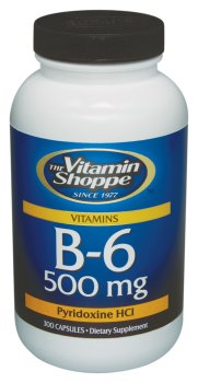 Vitamin Shoppe - B-6, 500 mg, 300 capsules