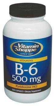Vitamin Shoppe - B-6, 500 mg, 300