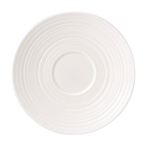 Jasper Conran by Wedgwood White Bone China Tea Saucer Swirl