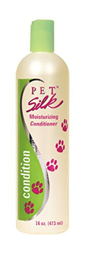 Pet Silk Moisturizing Conditioner (16 Ounce) - Conditioning for Cats, Horse & Rabbits - Dog Moisturizing Conditioner with Herbal Extracts, Vitamins, Chamomile & Rosemary - Shines & Moisturizes Coat