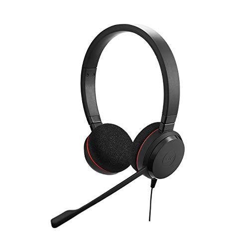 🥇 Jabra Evolve 20 – Auriculares Estéreo Certificados por Microsoft para VoIP Softphone