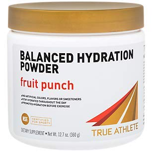 True Athlete Balanced Hydration Powder, Fruit Punch Flavor, Promotes Hydration Before Exercise, Easy to Mix, NSF Certified for Sport (12.86 Ounces Powder)