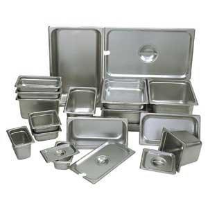 Update International NJP-256 24-Gauge Stainless Steel Anti-Jam Steam Table Pan, Fourth, 4.5-Quart