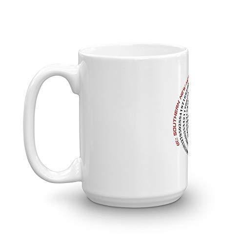 College and University Spiral Pi P2 Southern New Hampshire University Mug 15 Oz White Ceramic