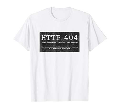 Error HTTP 404 Funny Simple Halloween Costume Shirt, Black ()