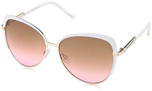 Rocawear Women's R573 Gldwh Cateye Sunglasses, Gold & White, 68 ()