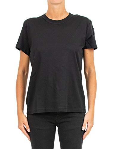 shirt Algodon 8050100809cr999 Mujer Moncler Negro T qwAXaxU0
