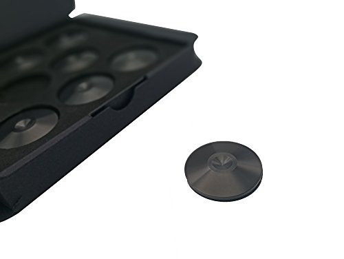 Set of 8 Satin Black Hi-Fi Spike Shoes Isolation Pads by Soundbass by Sound Bass (Image #5)