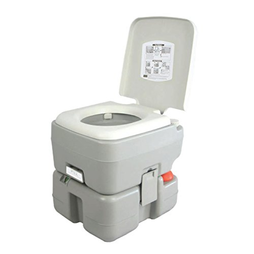 SereneLife Outdoor Portable Toilet SLCATL320 Piston Flush