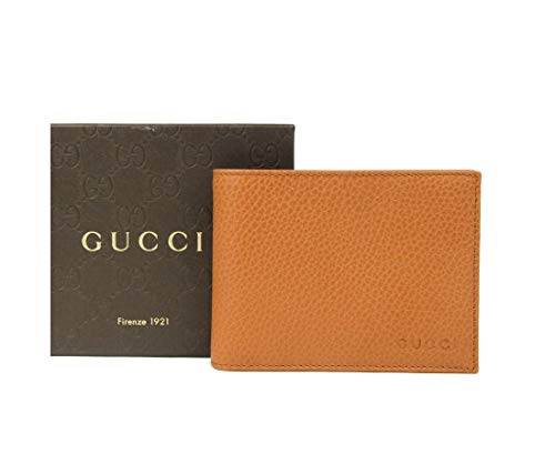 Gucci Brown Saffron Leather Dollar Calf Flap Wallet With logo 278596 - Small Wallets Gucci