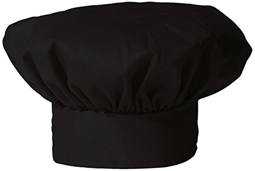 (Uncommon Threads Unisex Twill Chef Hat, Black, One Size)