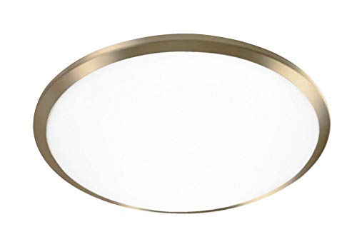Single Lamp LED Flush Mount with Round White Opal Glass