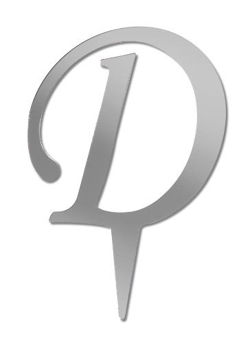 Darice Victoria Lynn Letter Cake Topper - Mirror Finish - D - 3 inches, Alphabet D